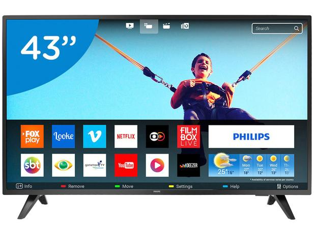 "Smart TV LED 43"" Philips Full HD 43PFG5813 78 - Conversor Digital Wi-Fi 2  HDMI 2 USB 9a2d3b6ac155"