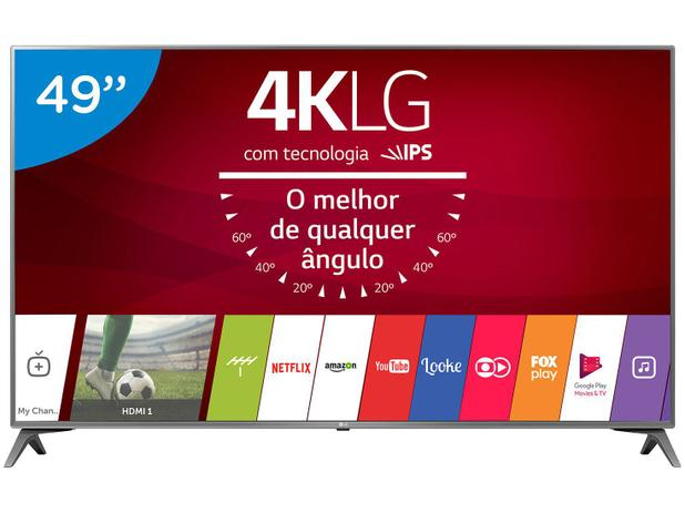 "Imagem de Smart TV LED 49"" LG 4K/Ultra HD 49UJ6565 WebOS"