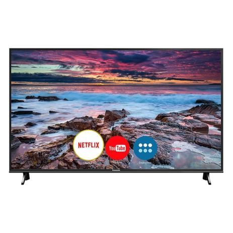 "Smart TV LED 49"" Panasonic TC49FX600B, 4k Ultra HD HDR, Wi-Fi, 3 USB, 3 HDMI, Hexa Chroma"