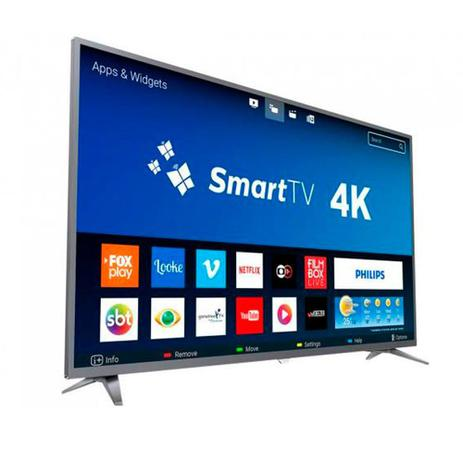 7dae5e7cd Smart TV LED 50 Polegadas Philips 50PUG6513 Ultra HD 4K Wi-Fi 3 HDMI 1 USB