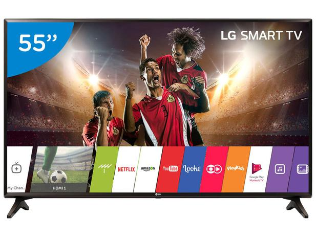 "5c8173e7ffc21 Smart TV LED 55"" LG Full HD 55LJ5550 WebOS - Conversor Digital Wi-Fi 2 HDMI  1 USB"