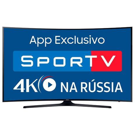 "455c4ab16 Smart TV LED 55"" Samsung Curva UN55MU6300 4K Ultra HD HDR"