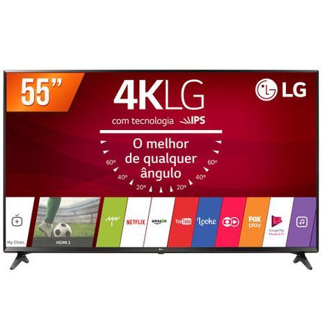 Imagem de Smart TV LED 55 Ultra HD 4K LG 55UJ6300 HDMI USB Wi-Fi Conversor Digital Integrado