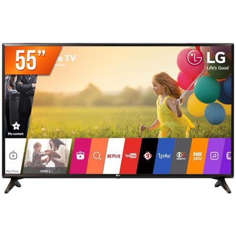 Imagem de Smart TV LED 55 Ultra HD 4K LG 55UK631C HDMI USB Wi-Fi Conversor Digital Integrado