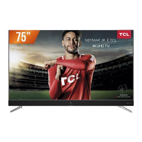 "Menor preço em Smart TV LED 75"" Ultra HD 4k TCL 75C2US HDMI USB Android TV Wi-Fi Integrado Conversor Digital"