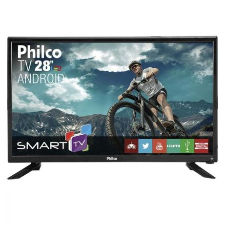 Smart TV LED Philco 28 Pol Conversor Digital HD 2 HDMI 2 USB PH28N91DSGWA