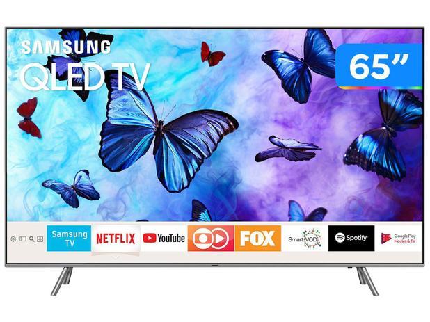 "Smart TV QLED 65"" Samsung 4K/Ultra HD Q6FN - Tizen Conversor Digital Modo  Ambiente Linha 2018"
