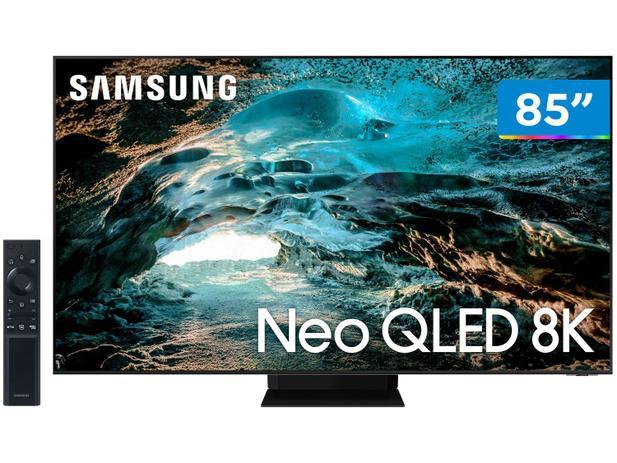 "Smart TV Ultra HD 8K Neo QLED 85"" Samsung Neo - QN85QN800AGXZD Wi-Fi Bluetooth HDR 4 HDMI 3 USB"