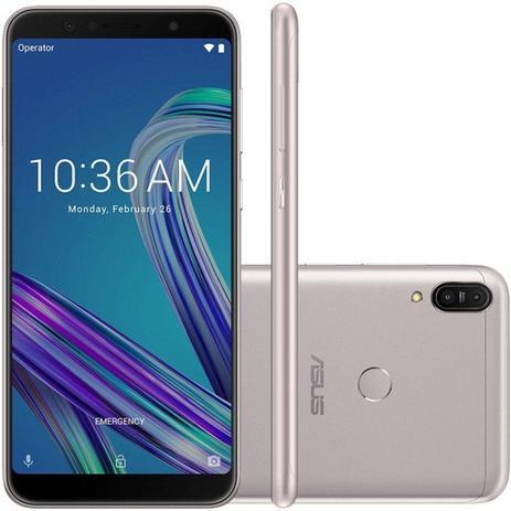 """09a3895159 Smartphone Asus Zenfone Max Pro M1 Prata 64GB 4GB 6"""" Full HD Câmera Dual  16MP e 5MP Dual Chip"""