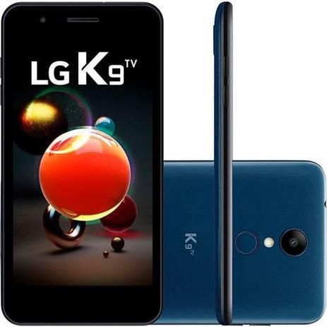 Imagem de Smartphone LG K9 TV 16GB 5.0 Pol HD Android 7.0 Dual Chip 4G, 8MP Quad Core - Azul