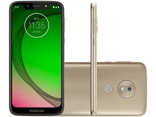 """6d5ba21e17 Smartphone Motorola G7 Play 32GB Ouro 4G - 2GB RAM Tela 5,7"""" Câm. 13MP +  Câm. Selfie 8MP"""