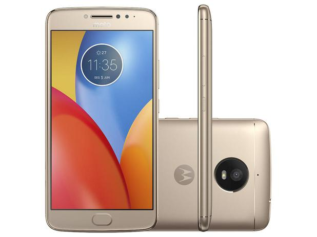 "Smartphone Motorola Moto E4 Plus 16GB Ouro - Dual Chip 4G Câm. 13MP + Selfie 5MP Tela 5.5"" HD"