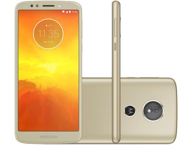 "0958c9a440 Smartphone Motorola Moto E5 32GB Ouro 4G - Quad Core 2GB RAM Tela 5,7"" Câm.  13MP + Selfie 5MP"