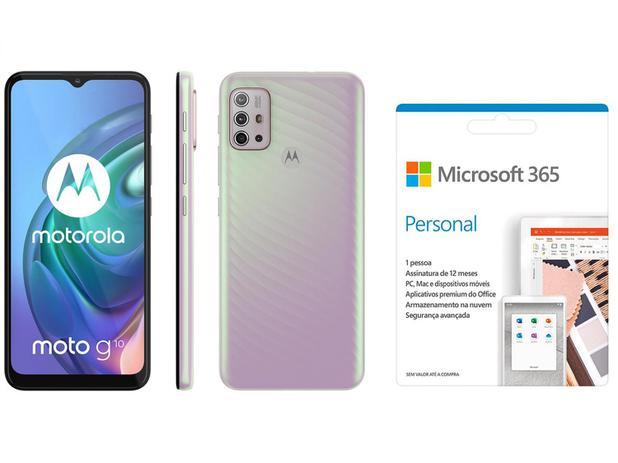Imagem de Smartphone Motorola Moto G10 64GB Branco Floral