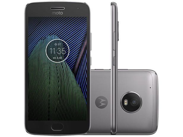 "Smartphone Motorola Moto G5 Plus 32GB Platinum  - Dual Chip Câm. 12MP + Selfie 5MP Tela 5.2"" Full HD"