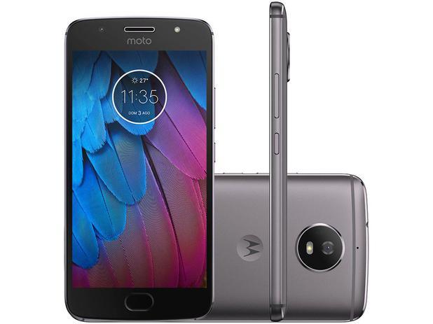 "Smartphone Motorola Moto G5s 32GB Platinum - Dual Chip 4G Câm. 16MP + Selfie 5MP Tela 5,2"""