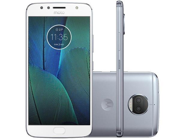 Smartphone Motorola Moto G5s Plus 32GB  - Azul Topázio Dual Chip 4G Câm. Duo 13MP + 13MP