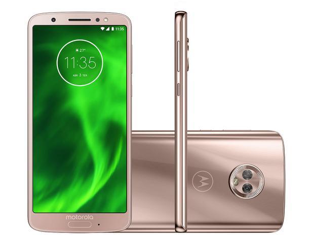 "542eddf839c39 Smartphone Motorola Moto G6 64GB Ouro Rosê 4G - 4GB RAM Tela 5,7"" Câm.  Dupla + Câm. Selfie 8MP"