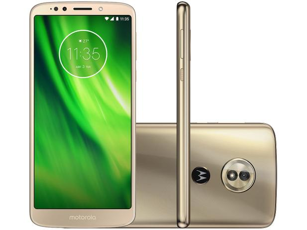 "ec3531cc5 Smartphone Motorola Moto G6 Play 32GB Ouro - Dual Chip 4G Câm 13MP + Selfie  8MP Flash Tela 5.7"""