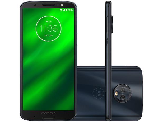 "85d44067f523b Smartphone Motorola Moto G6 Plus 64GB Indigo 4G - 4GB RAM Tela 5,93"" Câm.  Dupla+ Câm. Selfie 8MP"