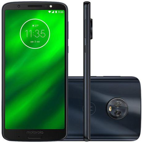 5123f1255 Smartphone Motorola Moto G6 Plus 64GB XT1926 Desbloqueado - Moto G6 ...