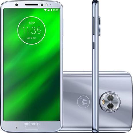 2c8654846 Smartphone Motorola Moto G6 Plus Dual Chip Tela 5.9 Octa-Core 2.2 GHz 64GB  4G Câmera 12 + 5MP (Dual Traseira) - Azul Topázio