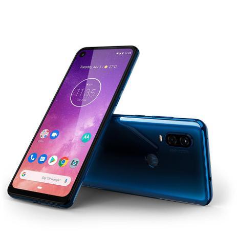 Imagem de Smartphone Motorola Moto One Vision Azul Safira XT1971 Tela de 6 3 128GB 48MP
