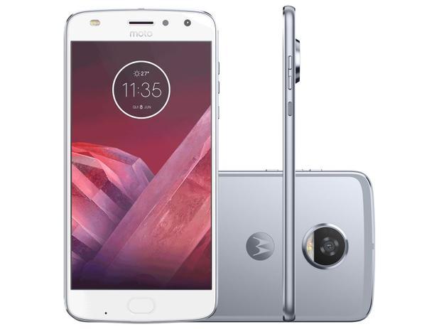 "Smartphone Motorola Moto Z2 Play 64GB Azul Topázio - Dual Chip 4G Câm. 12MP + Selfie 5MP Tela 5.5"""