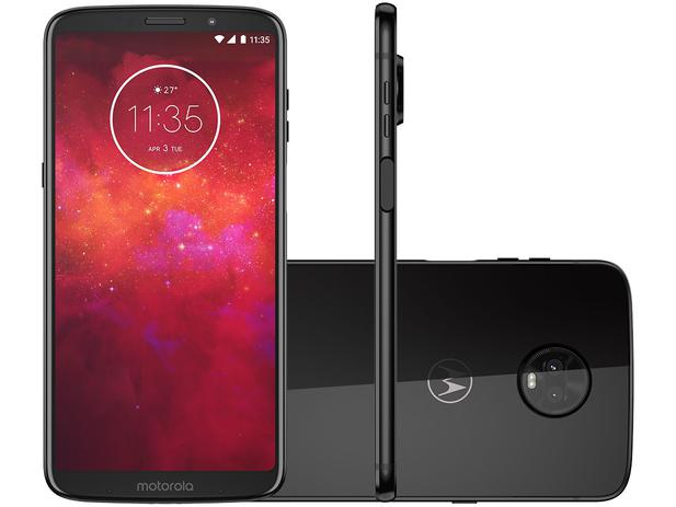 "d020e91c6913b Smartphone Motorola Moto Z3 Play 128GB Ônix 4G - 6GB RAM Tela 6"" Câm. Dupla  + Câm. Selfie 8MP"
