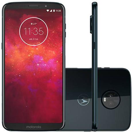 aa6565f0a Smartphone Motorola Moto Z3 Play 64GB Dual 6 5MP - Índigo - Moto Z3 ...