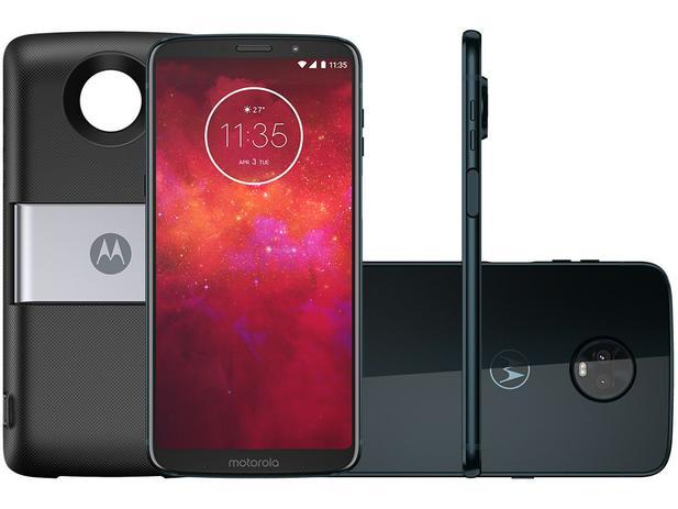 1fa91e91b Smartphone Motorola Moto Z3 Play PowerPack DTV - 64GB Índigo Dual Chip 4G  Câm 12MP e 5MP + Selfie