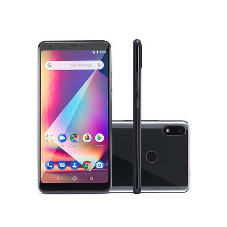 Imagem de Smartphone Multilaser Ms60Z 4G 2GB 16GB Tela 6 Pol. IPS HD Android 8.1 Câmera 13Mp+13Mp Sensor Digital Preto + Cartão Memória 32Gb - NB741
