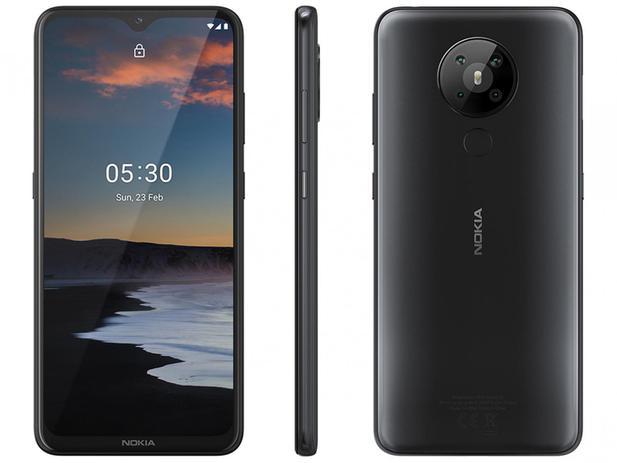 """Smartphone Nokia 5.3 128GB Preto 4G Octa-Core – 4GB RAM 6,55"""" Câm. Quádrupla + Selfie 8MP"""