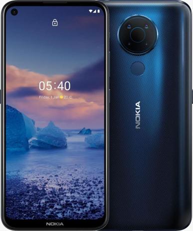 """Smartphone Nokia 5.4 128GB 4GB RAM Câmera Quádrupla 48.0MP Tela 6,39"""" - Azul"""
