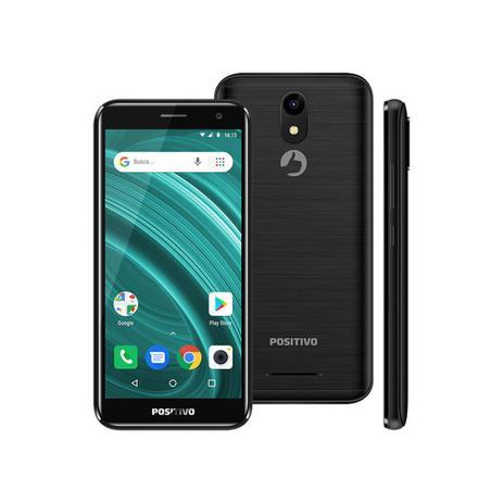 Imagem de Smartphone Positivo Twist 2 Go S541 Quad-Core 1GB Ram Dual Chip Android Oreo 5'' 8gb- Preto