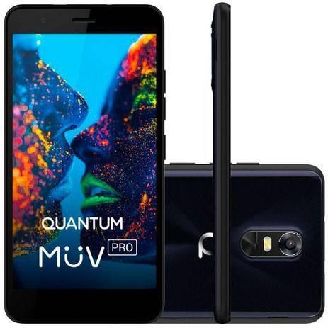 Imagem de Smartphone Quantum MÜV PRO, Azul, Tela de 5.5