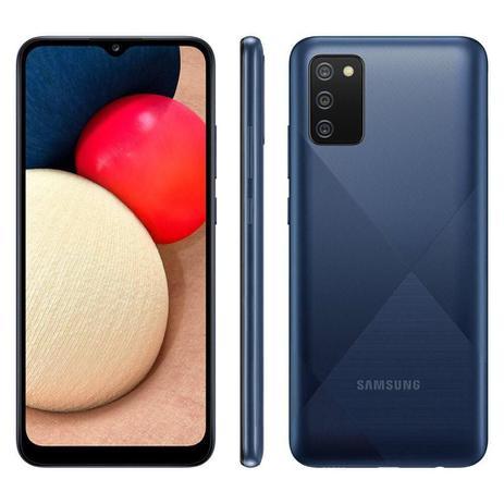 Imagem de Smartphone Samsung Galaxy A02s Azul 32GB Câmera Tripla Traseira de 13MP SM-A025