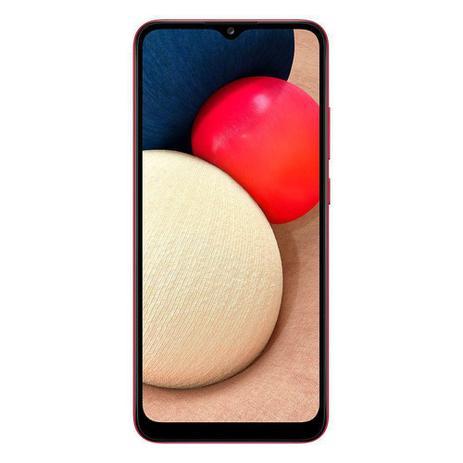 Imagem de Smartphone Samsung Galaxy A02s Vermelho 32GB, Tela Infinita de 6.5