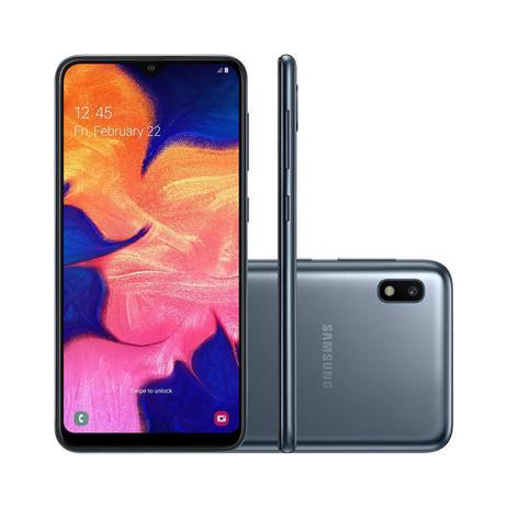 Smartphone Samsung Galaxy A10 32GB 4G Tela 6 2 Câmera Traseira 13MP - Preto