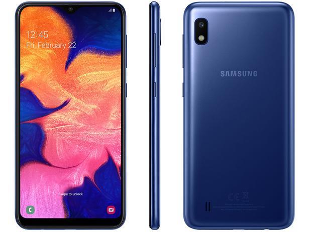 Imagem de Smartphone Samsung Galaxy A10 32GB Azul 4G