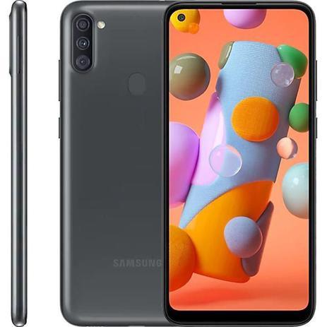 """melhor celular samsung Smartphone Samsung Galaxy A11, 6,4"""", 32 GB, Câmera Tripla, Preto - Galaxy A11"""