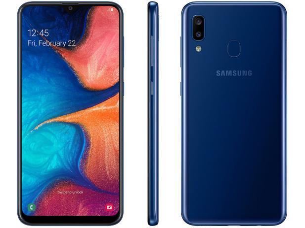 Imagem de Smartphone Samsung Galaxy A20 32GB Azul 4G