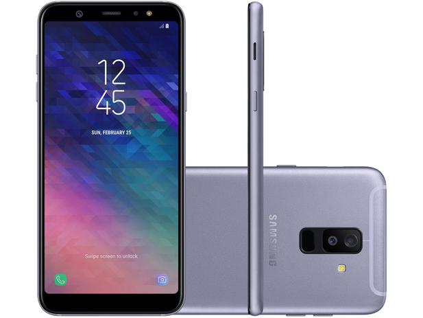 d2f4c50dd2b Smartphone Samsung Galaxy A6+ 64GB Prata - Dual Chip 4G Câm. 16MP e 5MP +  Selfie 24MP Flash