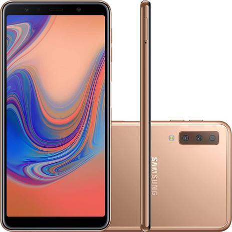 Imagem de Smartphone Samsung Galaxy A750G A7, Dual Chip, 24MP, 128 GB, 4G - Cobre