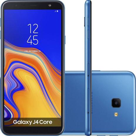 5882ea33b Smartphone Samsung Galaxy J4 Core 16GB Azul - Dual Chip 4G - Quad Core 1GB  RAM Tela 6 - Câm. 8MP + Selfie 5MP