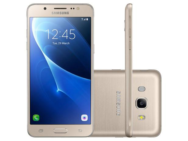 Smartphone Samsung Galaxy J5 Metal 16GB Dourado - Dual Chip 4G Câm. 13MP + Selfie 5MP Desbl. Tim