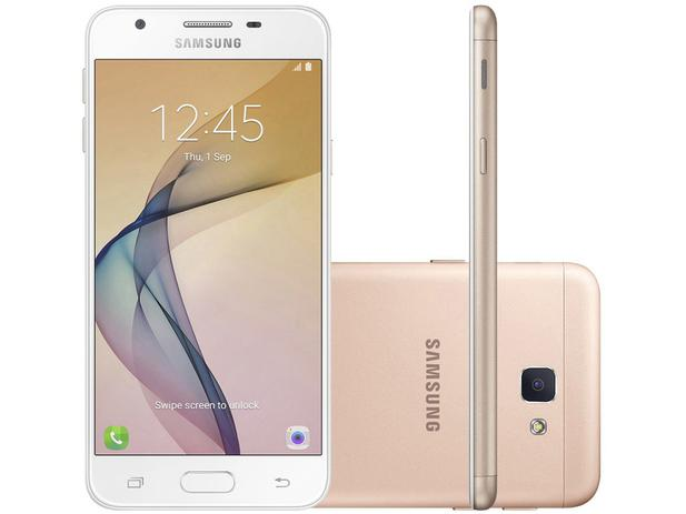 smartphone samsung galaxy j5 prime 32gb dourado dual chip 4g c m 13mp selfie 5mp flash tela. Black Bedroom Furniture Sets. Home Design Ideas
