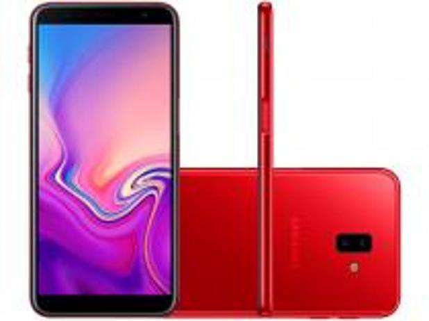 """Imagem de Smartphone Samsung Galaxy J6+ 32GB Vermelho 4G - 3GB RAM Tela 6"""" Câm. Dupla + Câm. Selfie 8MP"""