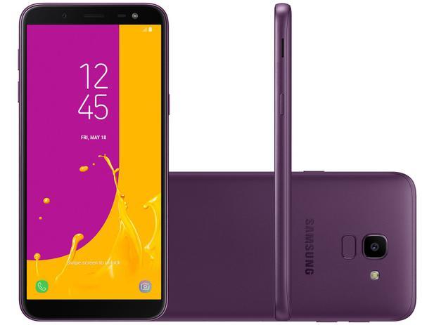 a4484da9a Smartphone Samsung Galaxy J6 32GB Violeta 4G - Octa Core 2GB RAM 5