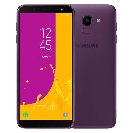 Imagem de Smartphone Samsung Galaxy J6 Camera 13MP, TV Digital HD, Dual Chip, Android, 8.0, Processador Octa Core e 2GB de RAM, 64GB, Violeta, Tela de 5,6